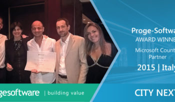 Microsoft CityNext Country Partner 2015 Award - Italia